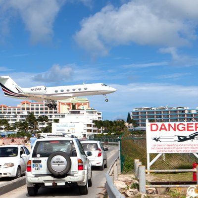 Landing at Princess Juliana Airport