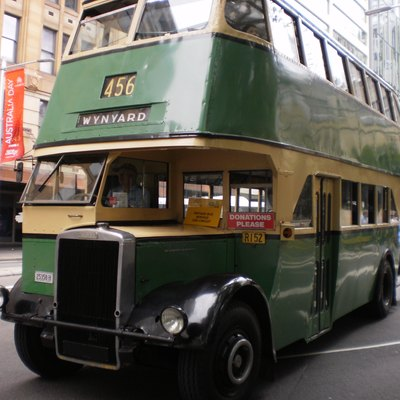 Image of restored Sydney double decker bus