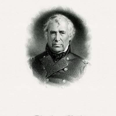 Engraved Bep Portrait Of U.S. President Zachary Taylor