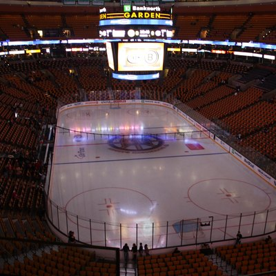 TD Garden in Boston prior to an NHL game between the Boston Bruins and the Montreal Canadiens