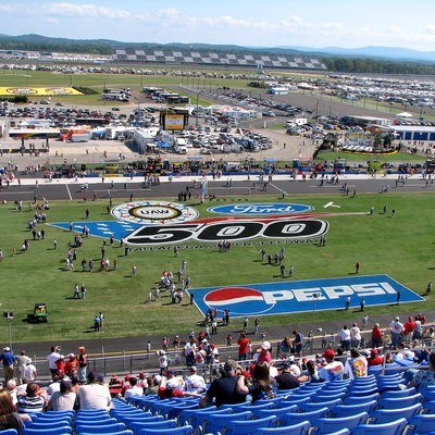Talladega Superspeedway after the re-paving of the track.