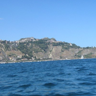 Taormina as viewed from the sea