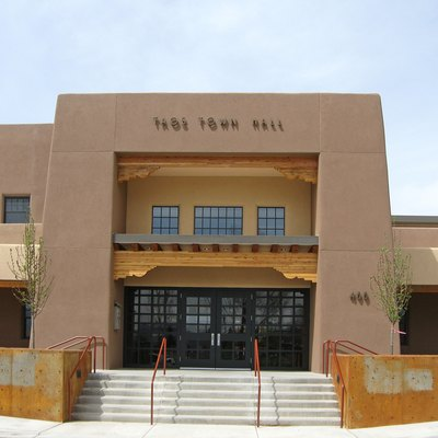 Taos (New Mexico) Town Hall, located at 400 Camino de la Placita.