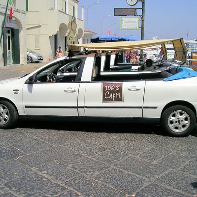 Typical taxi of Capri