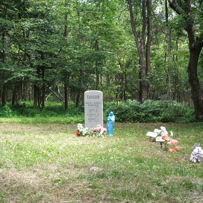 A small family cemetery, with recent marker, located in Shenandoah National Park. It is easily visible from Skyline Drive.