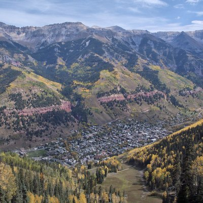 Telluride from the ski hill
