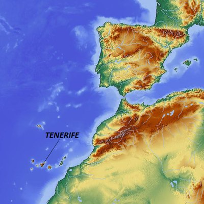 Map showing Tenerife