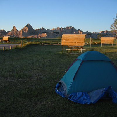 Camping at Cedar Pass Campground in Badlands National Park in South Dakota. I took this photo myself in 2005.