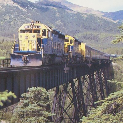 The Alaska Railroad, rolling between Anchorange, Denali National Park and Fairbanks.