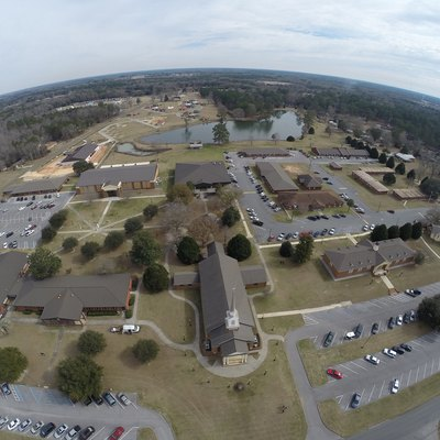 An arial view of The Baptist College of Florida taken in 2015