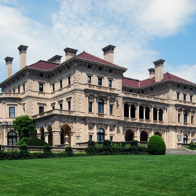 The Breakers, The Summer Home Of Cornelius Vanderbilt Ii, Located In Newport, Rhode Island, United States. It Was Built In 1893, Added To The National Register Of Historic Places In 1971, And Designated A National Historic Landmark In 1994.