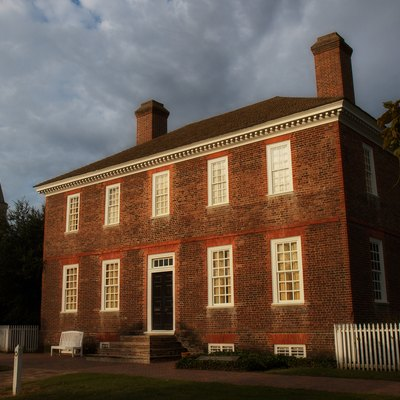 The George Wythe House in Colonial Williamsburg, Williamsburg, Virginia