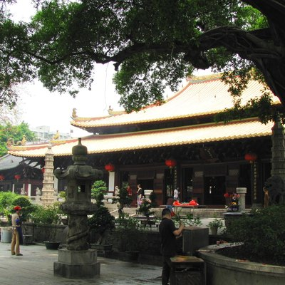 The Mahavira Palace of Guangxiao Si Guangzhou, China.中国广州光孝寺大雄宝殿。
