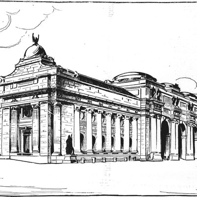 1902 Drawing Of The Then-Planning Union Station In Washington D.C.