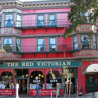 The Red Victorian Hotel, San Francisco, California, USA