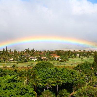 I can't remember when I have ever seen a rainbow like this. This was the view one afternoon from our hotel room balcony at The Royal Lahaina Hotel on Kaanapali Beach, Maui, Hawaii.