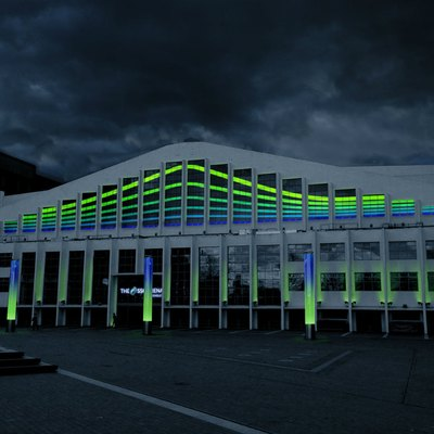 The SSE Arena, Wembley at night