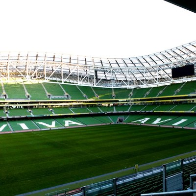 The fabulous Aviva Stadium in Dublin, Ireland.