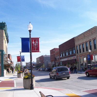 The w:Third Avenue Historic District in downtown w:Sturgeon Bay, Wisconsin.