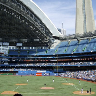 Tigers Play Blue Jays In April 2008 At Rogers Centre.