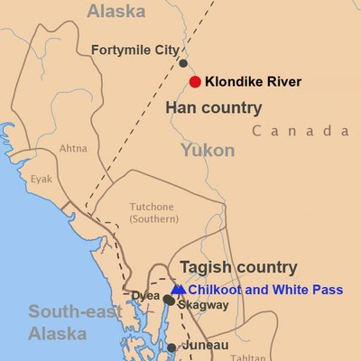 People and places around Klondike at time discovery of gold
