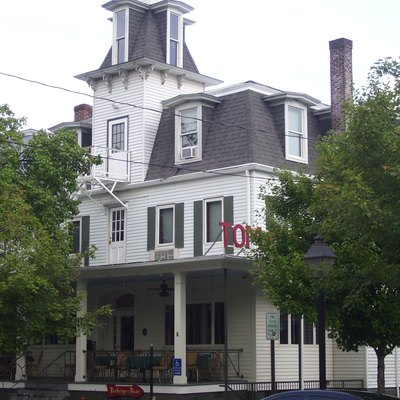 The Tom Quick Inn at 411 Broad Street in Milford, Pennsylvania is located within the Milford Historic District.
