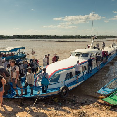 The boat from Phnom Penh to Siem Reap