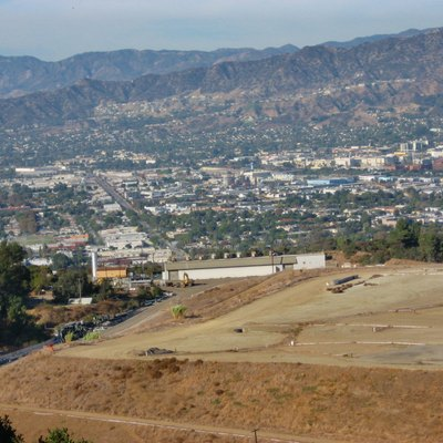 Toyon landfill in Griffith Park, Los Angeles, California, before the May 2007 fire.