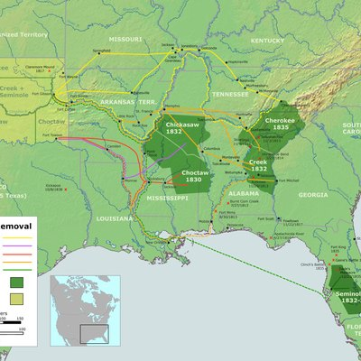 Jackson's Indian Removal Act and subsequent treaties resulted in the forced removal of several Indian tribes from their traditional territories, including the Trail of Tears.