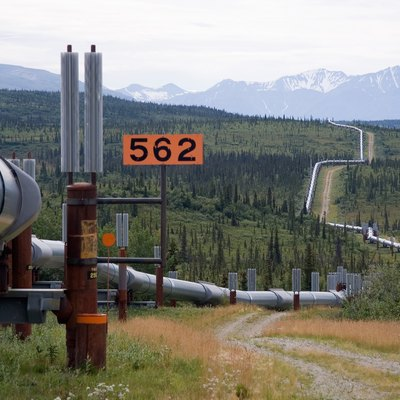 Trans-Alaska Pipeline System. It runs from the Arctic Ocean to the Gulf of Alaska at Valdez 800 miles (1,300 km)
