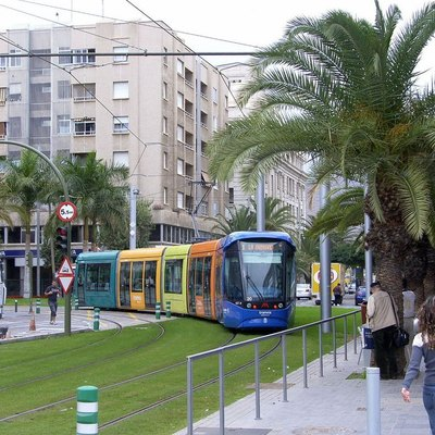 Tram / Light Rail Car In Tenerife.