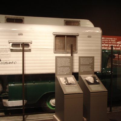 American author John Steinbeck's camper truck