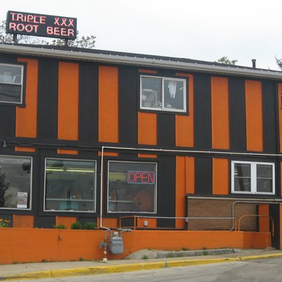 Front and eastern side of the Triple XXX Family Restaurant, located at 2 N. Salisbury Street in downtown West Lafayette, Indiana, United States. It was built in 1922.