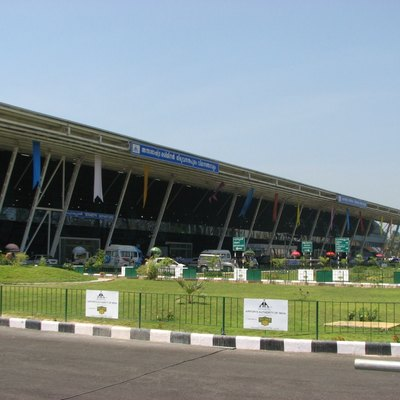 Trivandrum International airport International Terminal (Terminal 2), Kerala, India.