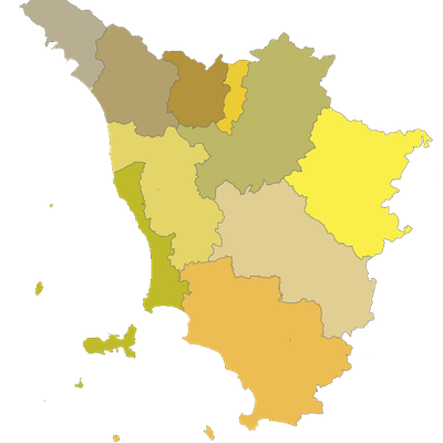 Political Divisions Of Tuscany