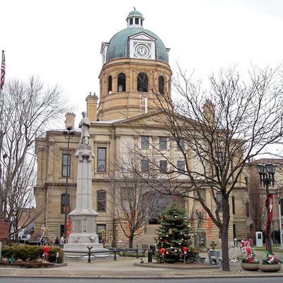 The Tuscarawas County Courthouse on High Street in downtown w:New Philadelphia, Ohio