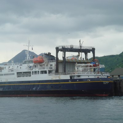 The MV Tustumena, a ferryboat that is part of the Alaska Marine Highway fleet and services Kodiak