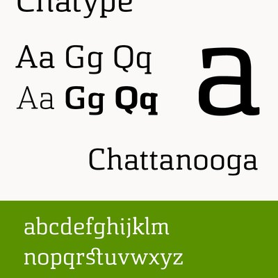 Sample of Chatype (typeface used by Chattanooga)