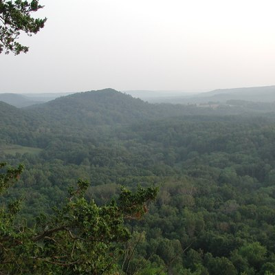 Typical terrain of The Driftless Area as viewed from Wildcat Mountain State Park in Vernon County, Wisconsin.