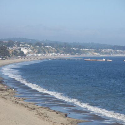 Seacliff State Beach in Aptos from New Brighton State Beach in Capitola, California, USA.