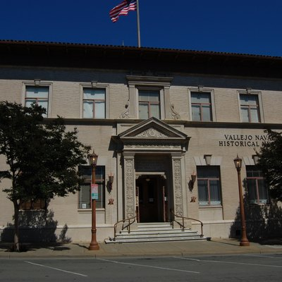 Vallejo Naval and Historical Museum. City Hall and County Building in past. 734 Marin Street. Vallejo, California, USA