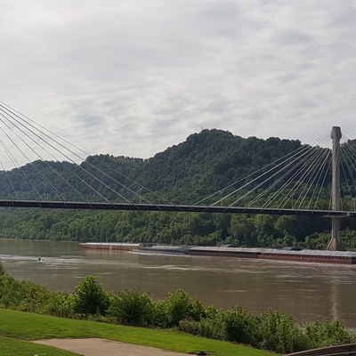 The U.S. Grant Bridge over the Ohio River connecting Portsmouth, Ohio with Greenup, Kentucky