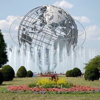 The Unisphere in Flushing Meadows – Corona Park, iconic of Queens, the most ethnically diverse U.S. county and a borough of New York City.[68][69]