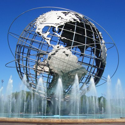 The Unisphere, built for the 1964 New York World's Fair, in Flushing Meadows Corona Park, Queens, New York City