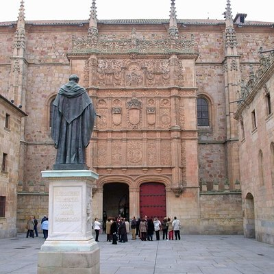 A statue of Fray Luis de León at the University of Salamanca, in Spain.