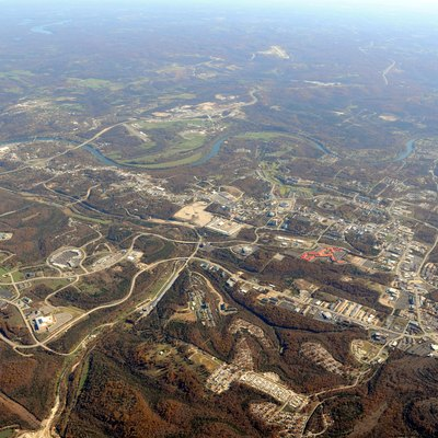 Aerial Photo of Branson Missouri from 9,000 msl Oct 24 2009 from NW looking SE