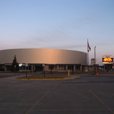 Utica Memorial Arena, Utica, New York after its 2015 renovation