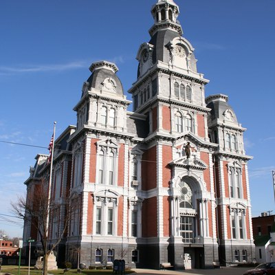 Van Wert County Courthouse In Van Wert, Ohio, Completed In 1874. Thomas J. Tolan &Amp; Son, Architects