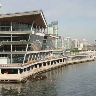 New west building of the Vancouver Convention Centre.