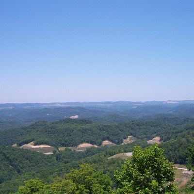 View from Pine Mountain near Whitesburg, Kentucky.